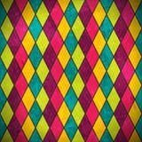 Färgrik rhombusgrungebakgrund stock illustrationer
