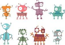 färgrik robot för samling vektor illustrationer