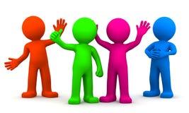 färgrik rolig grupp för tecken 3d Arkivbild