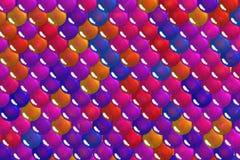 Färgrik rosa sfärgeometribakgrund Arkivbilder