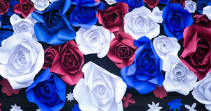 Färgrik Rose Flower Paper för abstrakt tapetregnbåge bakgrund Royaltyfria Bilder