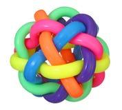 Färgrik rubber leksakboll Royaltyfri Foto