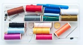 färgrik rullset för ask Fotografering för Bildbyråer