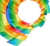 Färgrik rund geometrisk beståndsdel på en vit bakgrund Arkivbild