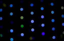 Färgrik rund ljus kall färg Tone Bokeh Circles för abstrakt bakgrund för berömjul och händelsebakgrund för nytt år Royaltyfri Bild