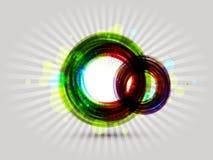 Färgrik rundaabstrakt begreppbakgrund Royaltyfri Fotografi