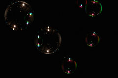 Färgrik såpbubbla Arkivbilder