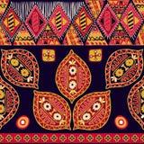 Färgrik sömlös etnisk modell stock illustrationer