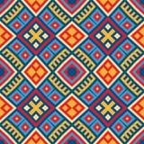 Färgrik sömlös etnisk modellbakgrund stock illustrationer