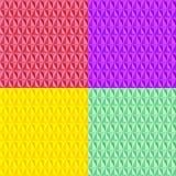 Färgrik sömlös geometrisk modellsamling stock illustrationer