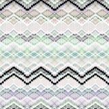 Färgrik sömlös geometrisk sicksackmodell Arkivfoto