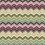 Färgrik sömlös geometrisk sicksackmodell Arkivfoton