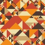 Färgrik sömlös modell för tappning med pyramider Arkivfoto