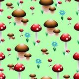 Färgrik sömlös modell i form av en skogröjning Arkivfoton