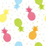 Färgrik sömlös texturmodell för ananors Royaltyfri Bild