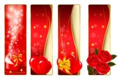 färgrik s valentin för bannesamling Royaltyfria Foton