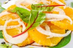 Färgrik sallad med apelsinen Royaltyfria Bilder