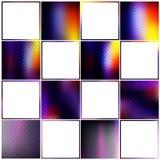 Färgrik samling gradiented texturer och gränser Arkivfoto