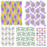 Färgrik seamless belägga med tegel textursamling Arkivbild