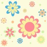 Seamless blommabakgrund Stock Illustrationer