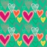 Färgrik seamless hjärta mönstrar Royaltyfria Foton