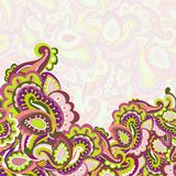 Färgrik seamless paisley bakgrund Arkivfoton