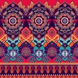 färgrik seamless paisley modell Dekorativ indisk prydnad dekorativ wallpaper stock illustrationer