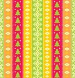 färgrik seamless traditionell wallpaper för jul Fotografering för Bildbyråer