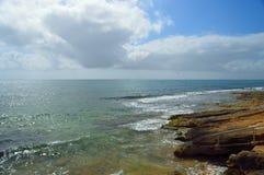 färgrik seascape Fotografering för Bildbyråer
