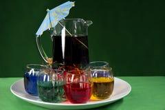 färgrik serving för drycker arkivfoton