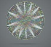 Färgrik sfär med strålar av ljus Royaltyfri Foto