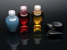 Färgrik shampoouppsättning arkivfoto