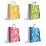 Färgrik shopping hänger lös Royaltyfria Bilder
