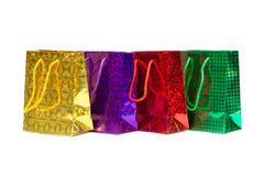 Färgrik shopping hänger lös Royaltyfri Fotografi