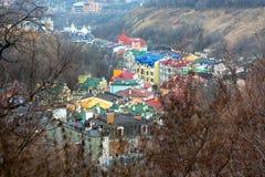 Färgrik sikt av Kiev Arkivfoto
