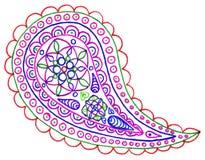 Färgrik singel för Paisley butaklotter Royaltyfria Bilder