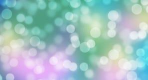 Färgrik sjöjungfrubokehbakgrund Royaltyfri Fotografi