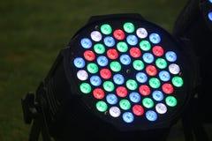Färgrik skärm av ljus med runda fläckar Royaltyfri Foto