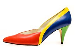 färgrik sko Arkivfoto