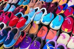 Färgrik sko Royaltyfria Bilder