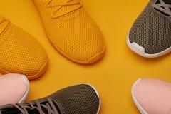 färgrik skosport Royaltyfri Bild