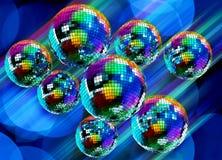 Färgrik skraj bakgrund med avspeglar disko klumpa ihop sig Fotografering för Bildbyråer