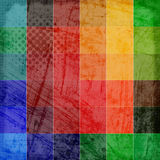 Färgrik skrapad tappningbakgrund Royaltyfri Fotografi