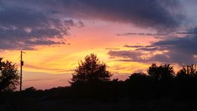 färgrik sky Arkivfoto