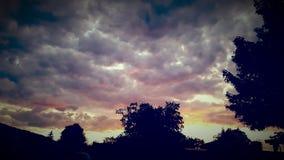 färgrik sky arkivbilder