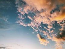 färgrik sky Fotografering för Bildbyråer