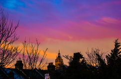 färgrik sky Arkivfoton