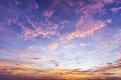 färgrik sky för bakgrund Royaltyfri Fotografi