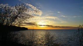 färgrik skysolnedgång Fotografering för Bildbyråer