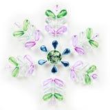 färgrik snowflake arkivbilder